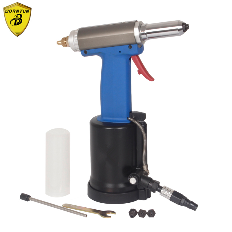 Borntun Air Riveters Industrial Pneumatic Air Hydaulic Riveter Rivet 2.4mm 3.2mm 4.0mm 4.8mm Power Air Riveting Pull Puller Tool