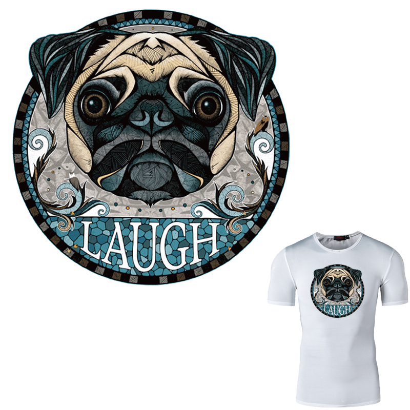 The Big Dog Patches For Clothing 20*20cm T-shirt Dresses Sweater Patch A-level Washable Appliques Parches Para La Ropa