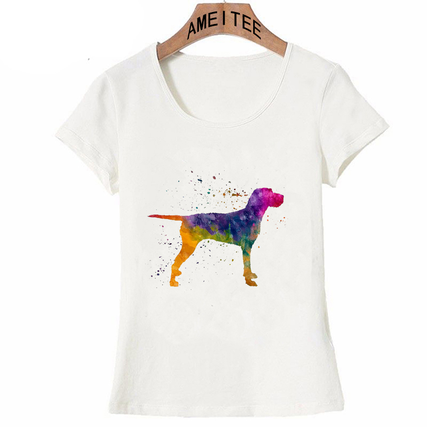 Golden Retriever Tee Shirt Neon Cute Puppy Dog Women/'s Ladies Girls Tops