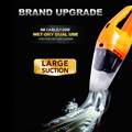 120W Portable Car Vacuum Cleaner Wet And Dry Dual-use Super Suction  Auto Cigarette Lighter 12V Orange