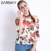 Womens White Chiffon Blouse Pattern Off Shoulder Ladies Tops Plus Size Women Summer White Shirt Female