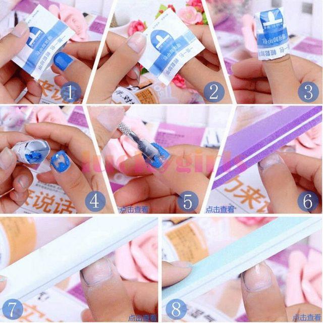 2018 Nail Remover 100Pcs/lot Nail Art Gel Polish Lacquer Easy Cleaner Gel Nail Wraps UV Gel Remover Nail Art Tools