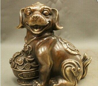 Antique bronze Pure Copper Brass 8 FengShui Chino Bornze Cultura Zodiaco Tesoro Riqueza Estatua de PerroAntique bronze Pure Copper Brass 8 FengShui Chino Bornze Cultura Zodiaco Tesoro Riqueza Estatua de Perro