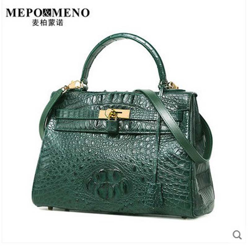 maibomengnuo thailand nile crocodile skin Women's handbag European and American fashion ladies' classic women handbag