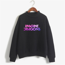 IMAGINE DRAGONS Women Sweatshirt Casual Long Sleeve Winter Womens Sweatshirts Hoodies Plus Size Letter Pullover NSW-C10208