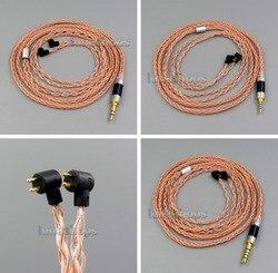 100ohm Copper 8 core 2.5mm 4.4mm Balanced MMCX Pure OCC Copper Earphone Cable For Etymotic ER4B ER4PT ER4S ER6I ER4 LN006127