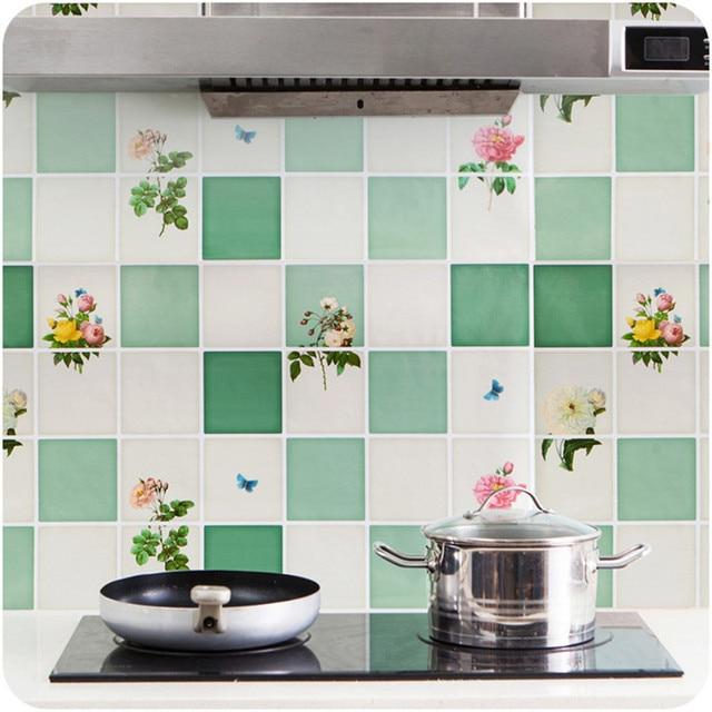 Cucina anti olio wallpaper piastrelle carta da parati autoadesiva ...