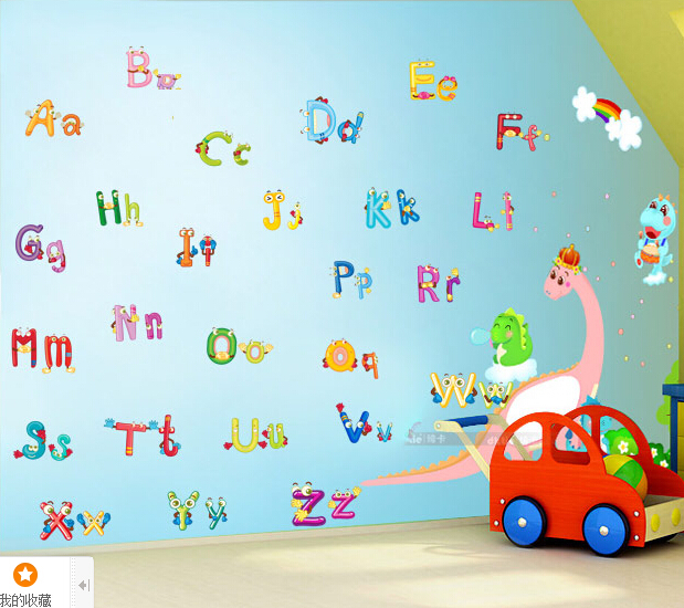 Can Remove The Wall Stickers Baby English Letters Paper Of Children Room Decorate A Kindergarten Clroom In From Home
