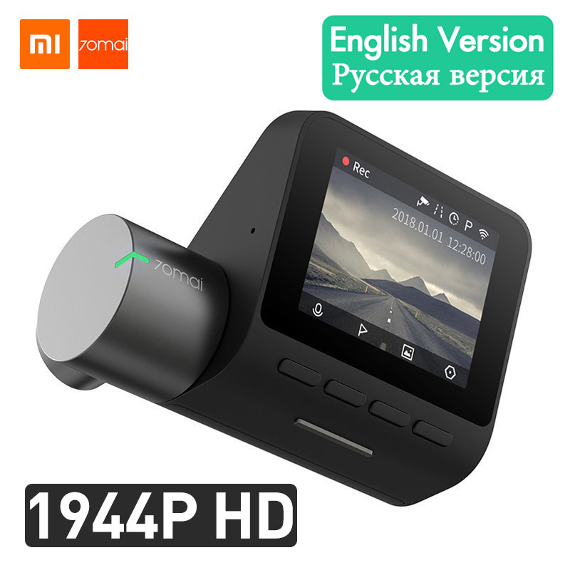 Xiaomi 70mai Dash Cam Pro Smart Car DVR Camera Wifi 1944P GPS ADAS Voice Control Parking Monitor 140FOV Night Vision Dash Camera