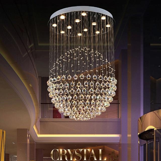 VALLKIN LED Crystal Chandeliers Lights Round Globular Luxury Design For  Indoor Deco Living Room Living Room Part 58