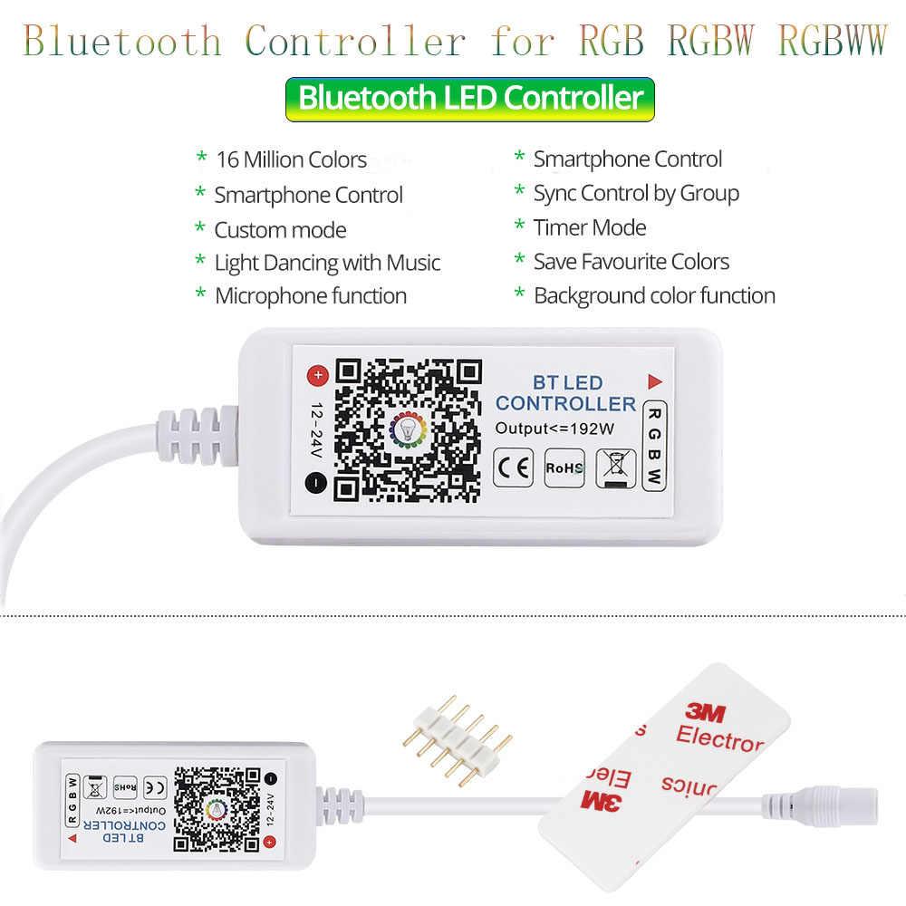 Bande de LED 5050 DC12V 60 LED s/m 5 m/lot bande de ruban LED avec auto-adhésif lumière LED Flexible RGB RGBW 5050 LED