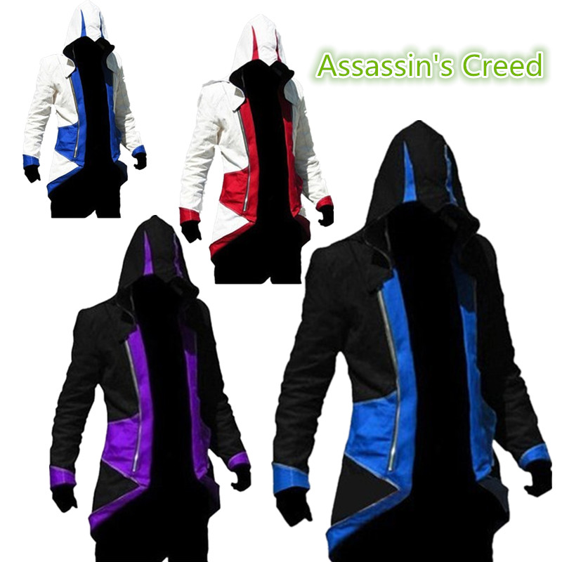 discount Assassins Creed Cosplay Costume Ezio Costume Assurance 3 New Kenway Men's jacket anime cosplay Women Halloween dress