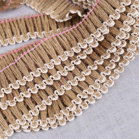 50meter/lot 35mm Natural Hemp Rope Jute Tassel Ribbon Clothing Shoes Decoration Accessories Creative Home Decoration Retro