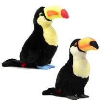 25cm Lifelike Ramphastos toco  Toucan Plush Toys Cute Toco Dolls Simulation Bird Stuffed Gifts For Children