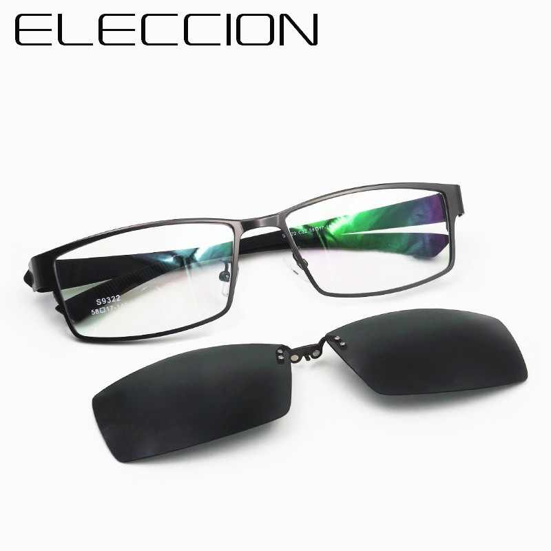 88f791e11f0 ELECCION Brand New Sports Style Optics Prescription Eyeglasses Frame Men  and Polarized Outdoor Time 1pcs clip