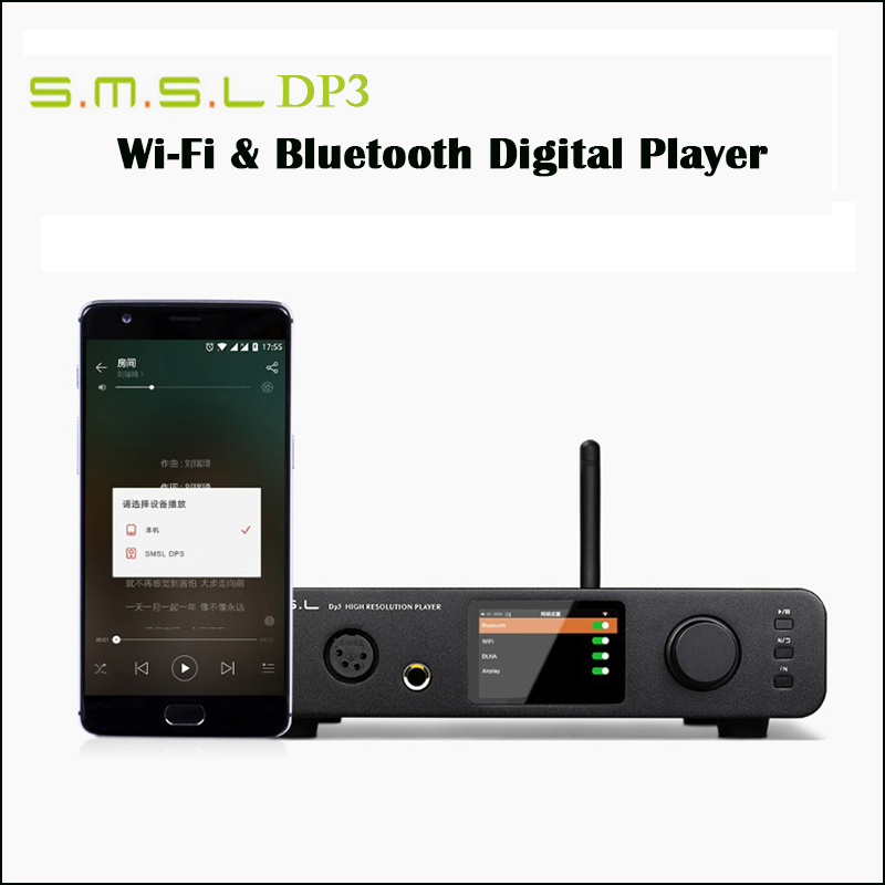 SMSL DP3 Home DSD DAC Amplifier Audio ES9018Q2C DAC USB Amp Hifi Digital Player Coaxial Amplifier Bluetooth with Headphone Amp-in Headphone Amplifier from Consumer Electronics    1