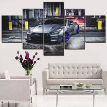 Vehicle GT-R Car Painting 5 Pieces Home HD Print Artwork The Wall Art Paintings Canvas Living Room