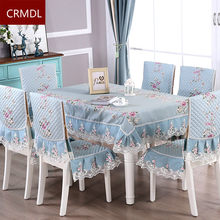 RZCortinas Floral Table Cloth Rectangular Wedding Party Home Table Cover Set Chair Cover Mat Christmas Tablecloth with Lace(China)