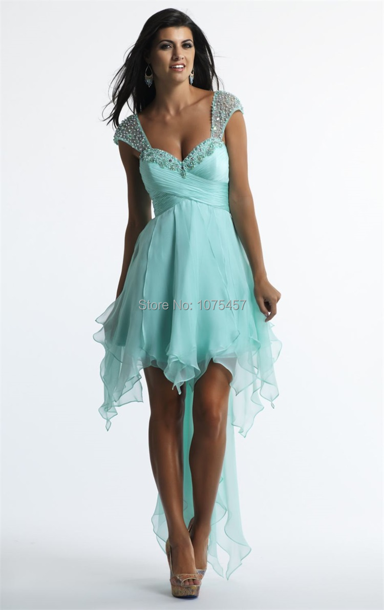 Mint Green Prom Dresses Short Front Long in Back In_Prom ...