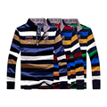 Tace& Shark 2017 Brand Clothing polo long sleeve 100 cotton Sweater business style pullover mens striped sweaters shark big XXXL