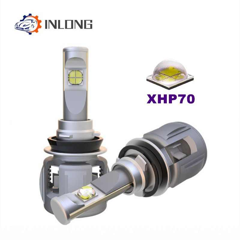 INLONG 2Pcs H4 H7 Car LED Headlight Bulb H11 H8 9005 9006 HB4 H9 D4S D2S D1S  XHP70 Chips 120W 15600LM Headlamp Fog Lights 6000K