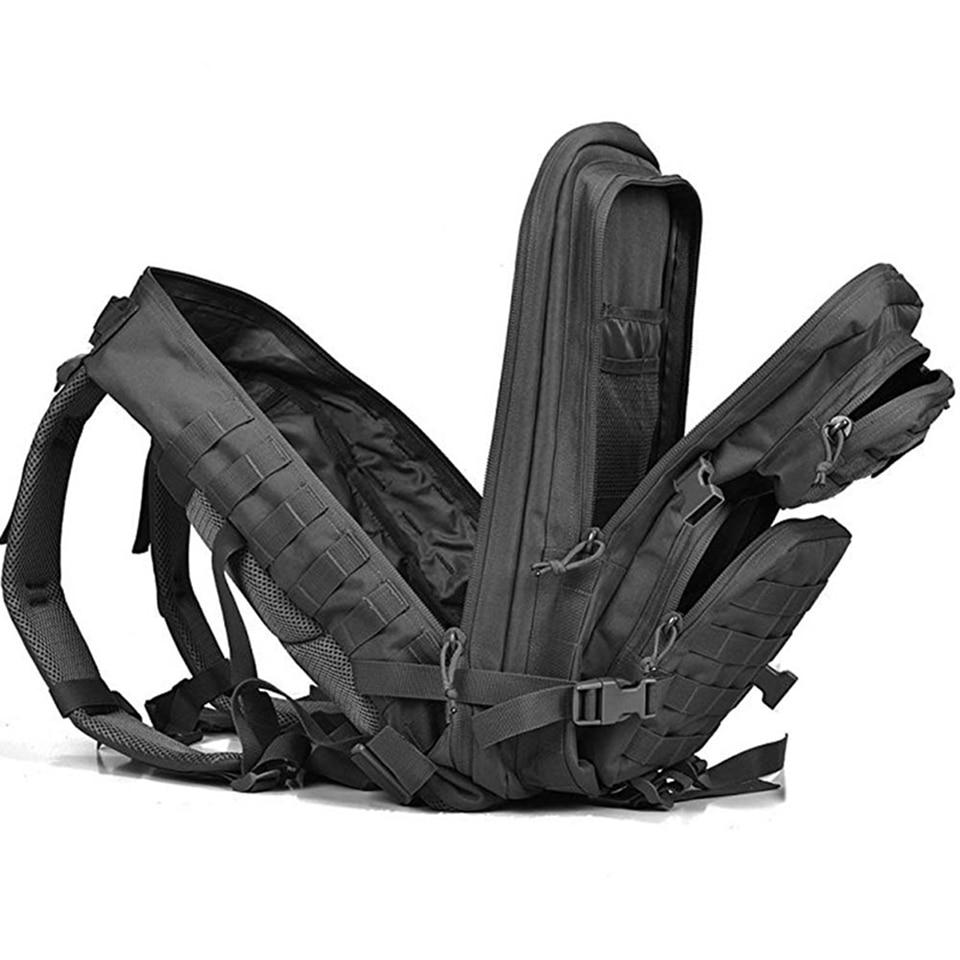 Image 2 - Outdoor Backpacks Tactical Backpack Military Rucksack Bag Mens Women 43L Army Bagpack Sports 3P Flag Waterproof Molle Bags Packs-in Backpacks from Luggage & Bags