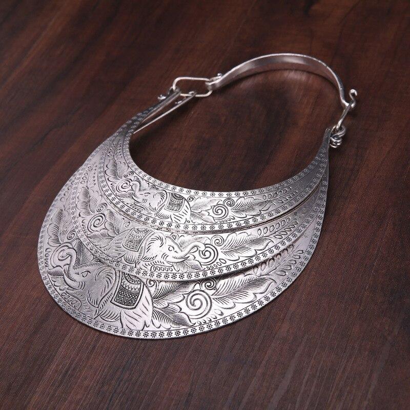 necklaces & pendants exaggeration Ethnic Classic pendants Miao silver dance accessories Original Retro Three layers Big collar