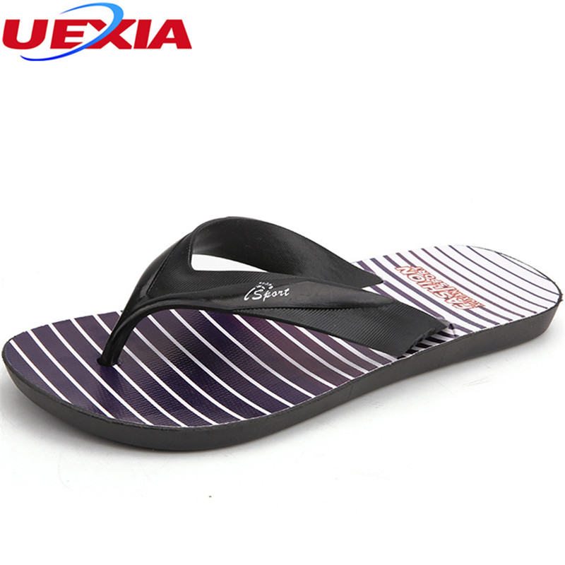UEXIA 2018 New Summer Slippers Men Hollow Out Breathable Beach Flip Flops Casual Slip-on Flats Men Shoes zapatos Clogs Outside hot sale natural man hemp flip flops summer breathable fashion beach sandal shoes men s casual canvas slides shoes free shipping