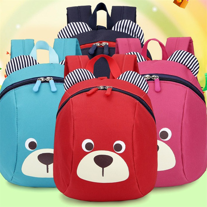 baby aged 1 3 years old safety canvas harness toddler cartoon bear backpack anti lost bag