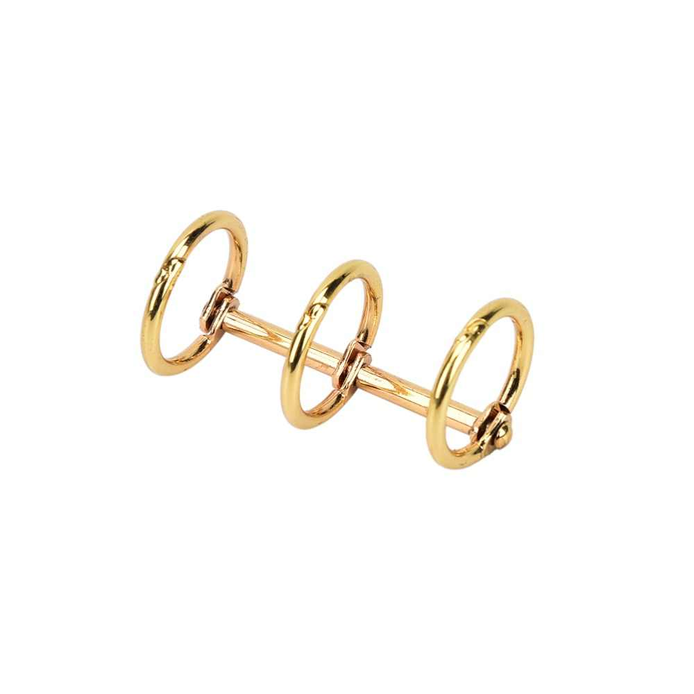 เหล็กโน้ตบุ๊คใบหลวมBinder 3-Ringซิลเวอร์โกลด์หลวมใบบานพับแหวนสมุดBinderอัลบั้มปฏิทิน