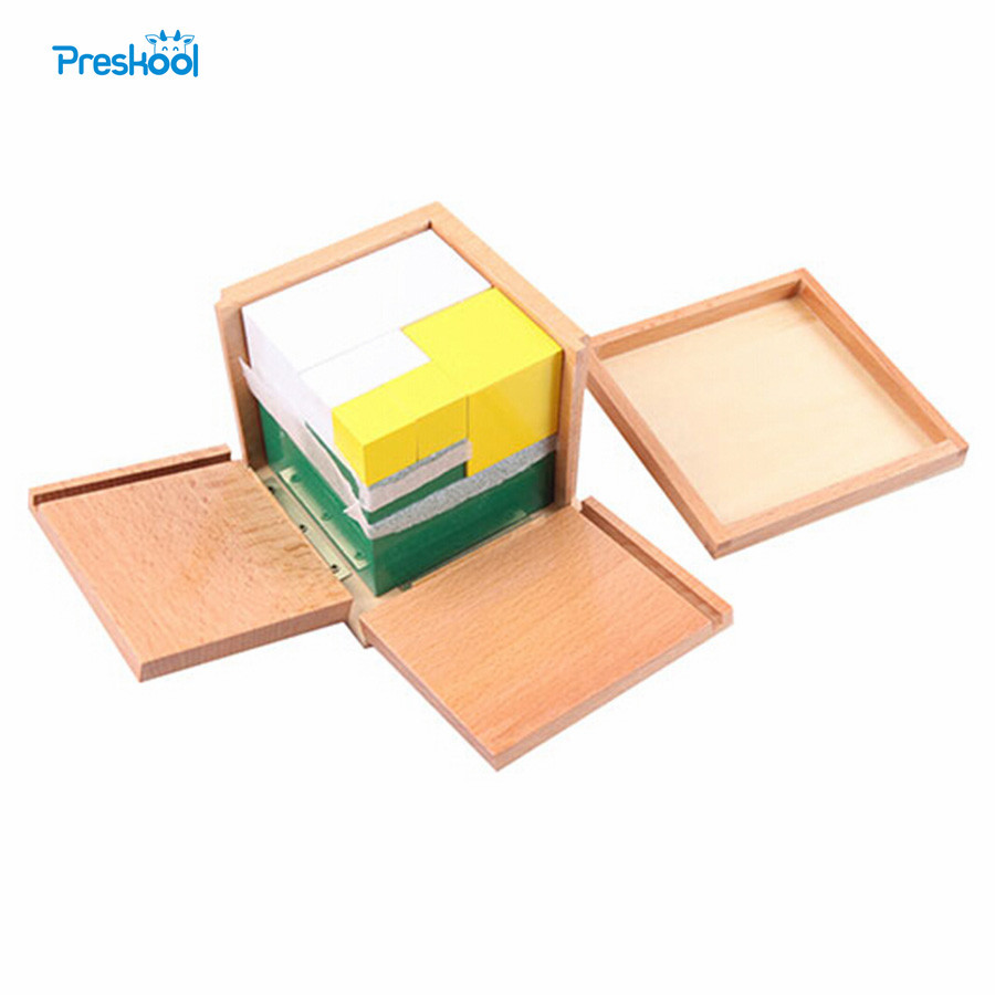 Детска играчка Монтесори Мощност на 2 кубчета Математика Обучение Ранно детство Образование Предучилищна подготовка Детски играчки