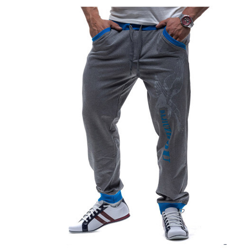 NEW 2019 Fashion spring autumn joggers Drawstring Printed elastic waist patchwork beam foot letters leisure pants pantalon homme in Casual Pants from Men 39 s Clothing