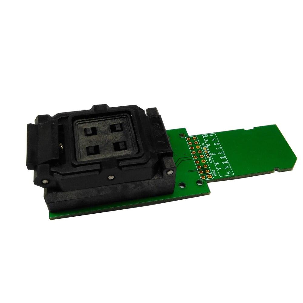 US $78 0 |eMCP162/186 reader clamshell tester socket BGA162/186 data  recovery programer for electronic diy kit emmc phone repair tools-in  Connectors