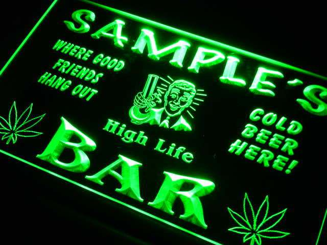 tp-tm Name Personalized Custom High Life Bar Beer Neon Sign with On/Off Switch 7 Colors 4 Sizes
