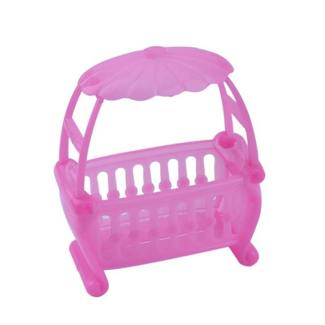 Cama de bebé de color rosa muñeca de juguete cuna accesorios Cunas ...