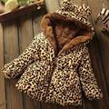 Roupas para crianças Casaco de Inverno Mais Grosso Seção Leopardo Bebê Leopardo Casaco Jaqueta Acolchoada Quente Sherpa
