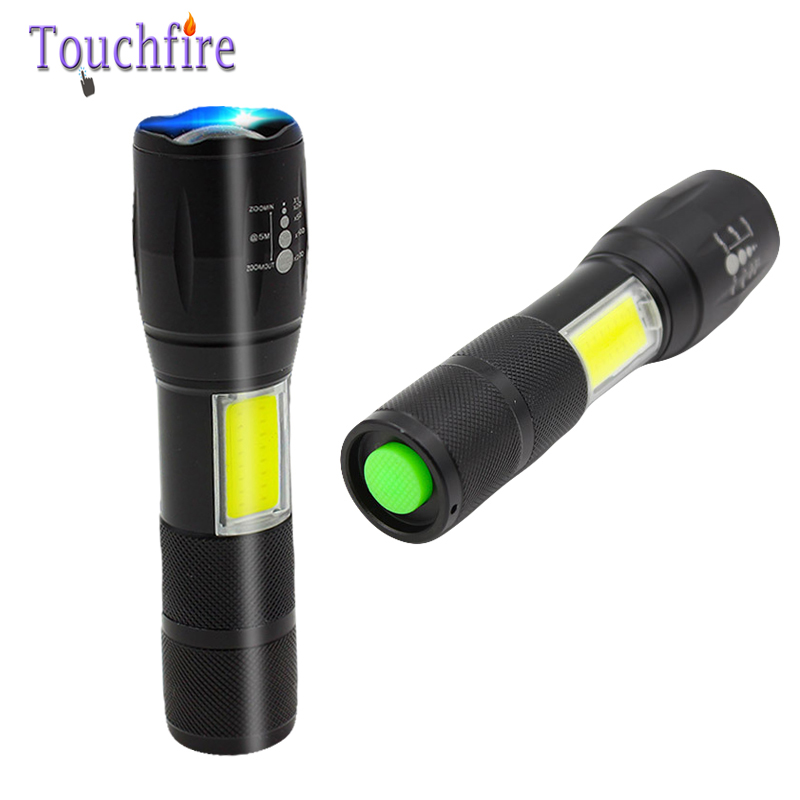 Touchfire 1000LM T6 LED head torch light rechargeable lantern fishing