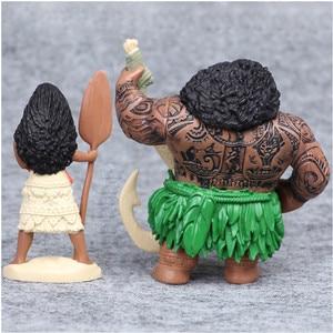 Image 5 - Disney 6pcs/set 6 12cm Cartoon Movie Vaiana Moana Princess Maui Chief Tui Tala Heihei Pua Action Figure Decoration Toys For Kids
