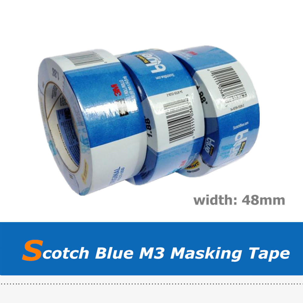M3 Scotch Blue Crepe Masking Tape for 3D Printer 205mm width blue masking tape high temperature resistance masking tape for 3d printer makerbot thickness 0 13mm