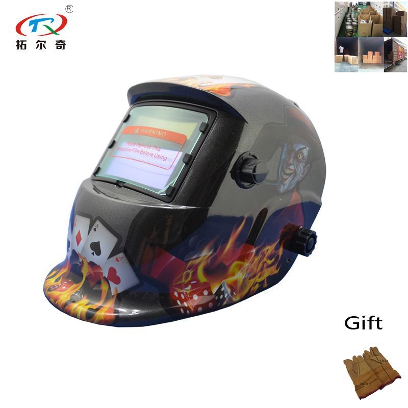 Full face shied easy cap god of gamblers auto darkening lens auto darking welding helmet