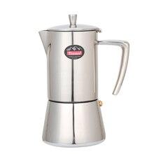 Кофейник 200 мл/300 мл, мокко горшок 304 #, Кофеварка из нержавеющей стали, кухонный Перколятор, мокко горшок, чайник для напитков