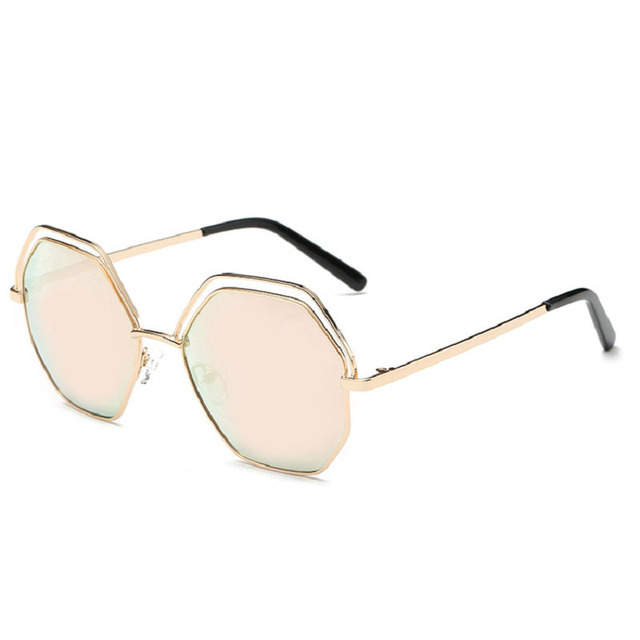 Metall-Mode-Sonnenbrille Männer und Frauen allgemeine Sonnenbrille Trend helle Brille , 1