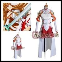 Cosplaydiy Freeshipping Custom made Sword Art Online Asuna Cosplay Costume