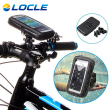 LOCLE Bike Body Entrance Tube Bag Biking Using Bag Pannier Smartphone & GPS Contact Display Case Bicycle Equipment four Dimension