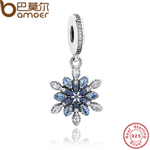 BAMOER High Quality 925 Sterling Silver Charms Fit Original BME Bracelet Women Pendant Jewelry Making PAS240