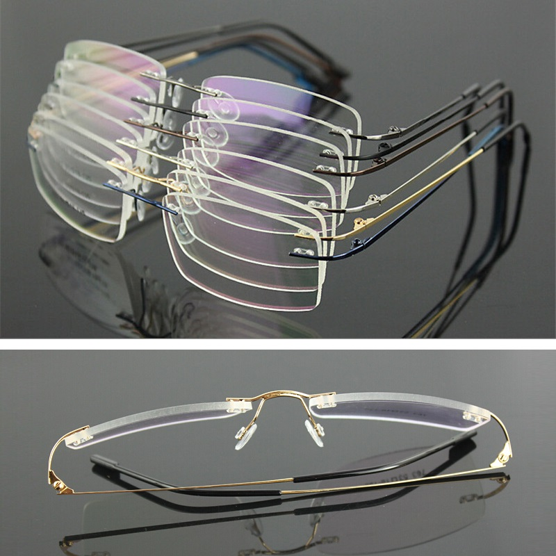 Vazrobe Rimless <font><b>Prescription</b></font> <font><b>Glasses</b></font> <font><b>Men</b></font> Women <font><b>Progressive</b></font> Man Female Spectacles Receipt Photochromic Anti Blue Light 1.61 Index image