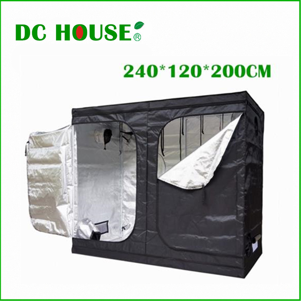 240*120*220 New Hydroponics Plants Grow Tent Mini Greenhouse Dark Room Indoor Garden Non Toxic Mylar Reflective
