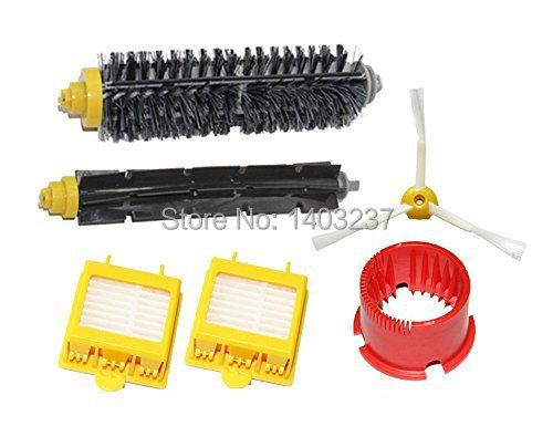 Hepa Filters Bristle Brush Flexible Beater Brush 3-Armed Side Brush Cleaning Tool for iRobot Roomba 700 Series 760 770 780 790 hepa filters bristle brush flexible beater brush 3 armed side brush pack set for irobot roomba 700 series 760 770 780 790