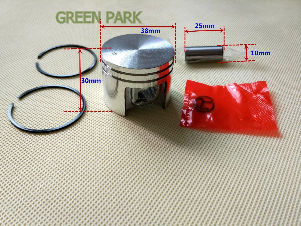 5 sets 38MM Piston Kit With Ring and 10MM Pin Assy For STIHL 018 MS180 CHAINSAW Spare Parts NEW Engine replacement Parts