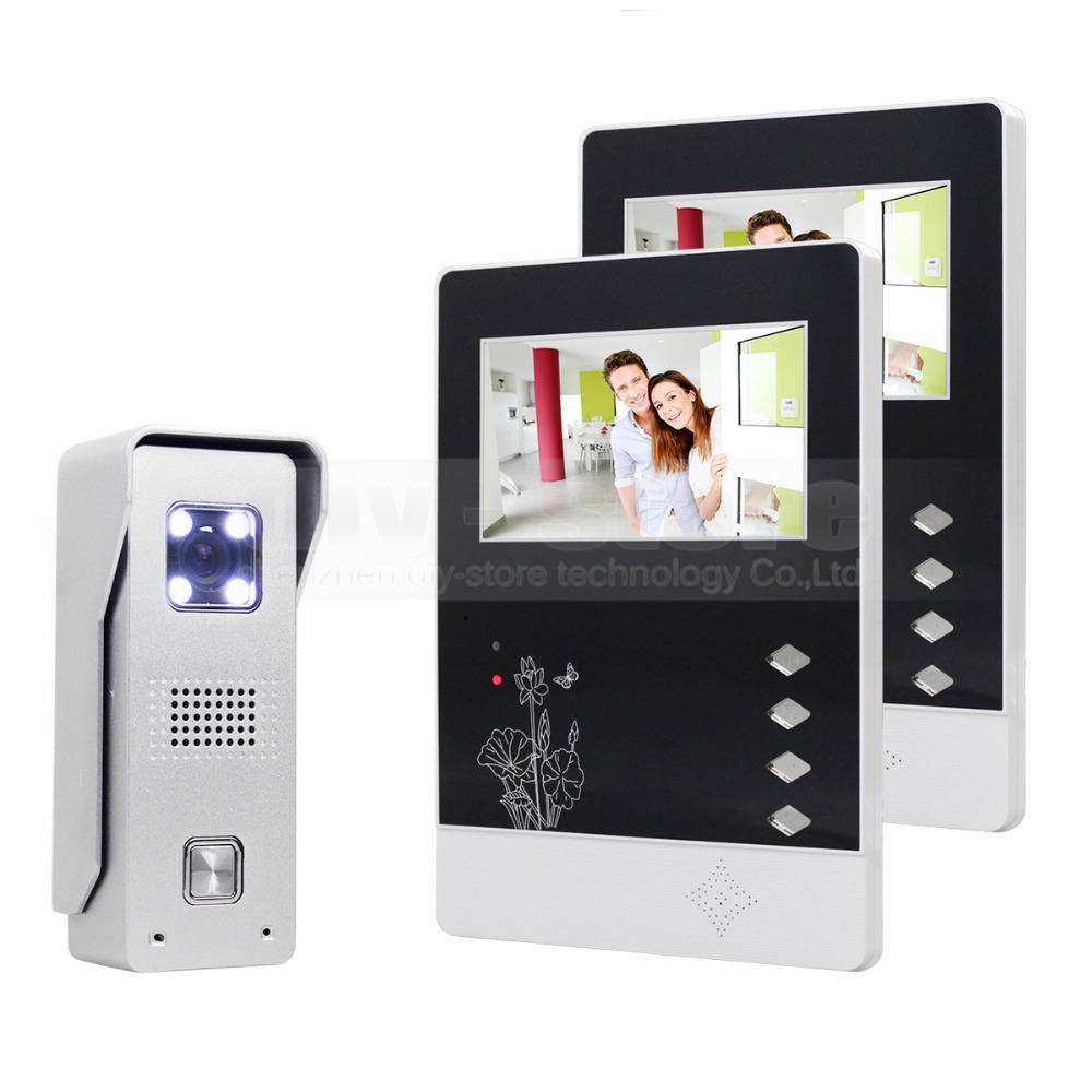 DIYSECUR 4.3 inch TFT Color LCD Display Aluminum Alloy CCD Camera Video Door Phone Intercom Doorbell LED Color Night VisionDIYSECUR 4.3 inch TFT Color LCD Display Aluminum Alloy CCD Camera Video Door Phone Intercom Doorbell LED Color Night Vision